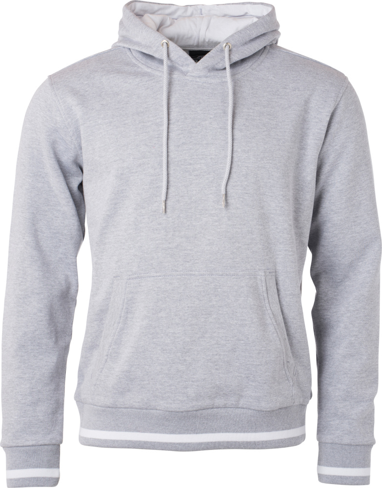 694c565bedc6 Herren Club Kapuzen Sweater (grey heather white) zum besticken und ...