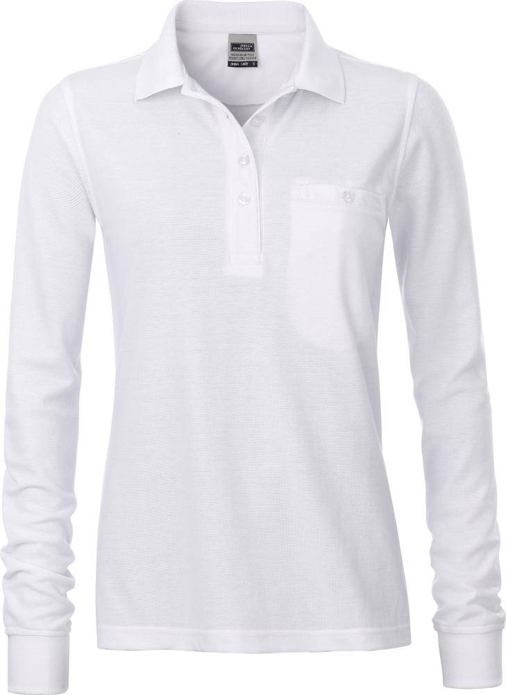 huge selection of cb22a 183b5 Damen Workwear Polo mit Brusttasche langarm white