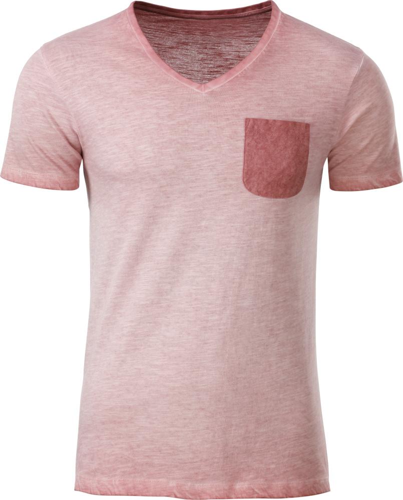 Herren Vintage T Shirt soft pink