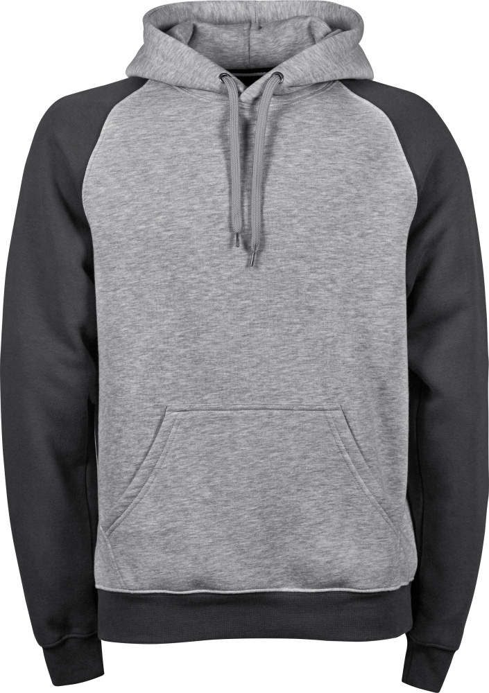 d4a10f43851f Herren Kapuzen Sweatshirt 2-farbig (heather dark grey) zum besticken ...