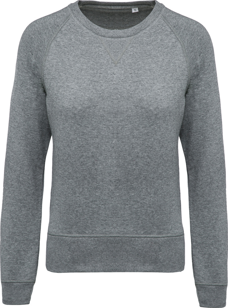 8de23a819fa Ladies  Organic Raglan Sweat (grey heather) for embroidery and ...