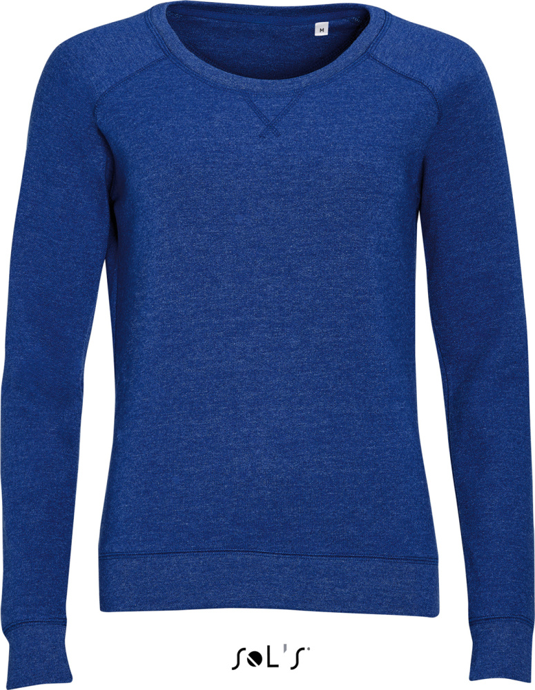 c3eaaf3c6f4f Damen Raglan Sweat (heather indigo) zum besticken und bedrucken ...