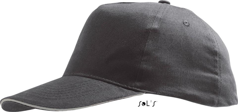 6bbe0e7e5ff0de Sunny 5 Panel Baseball Cap (dark grey/light grey) for embroidery ...