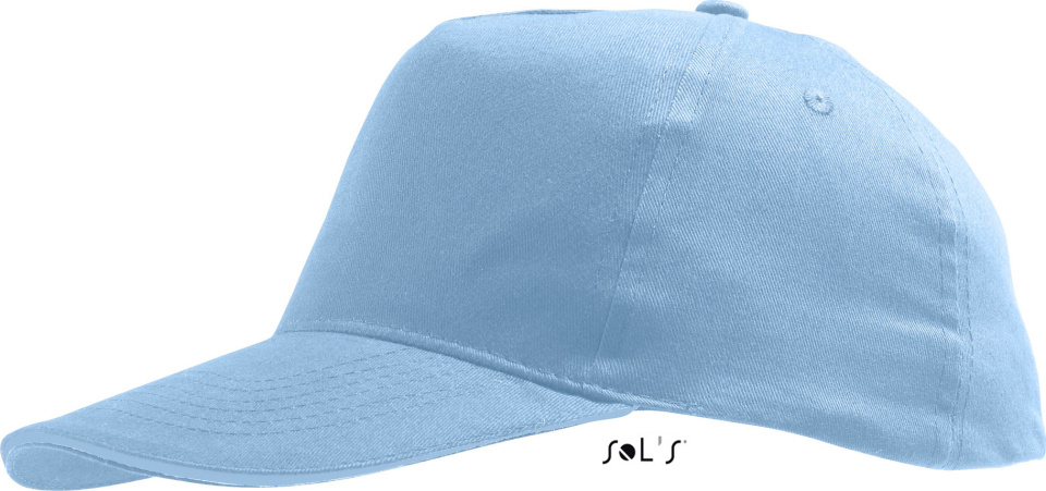 87483d0ef94dbd Sunny 5 Panel Baseball Cap (sky) for embroidery - SOL'S - Caps ...