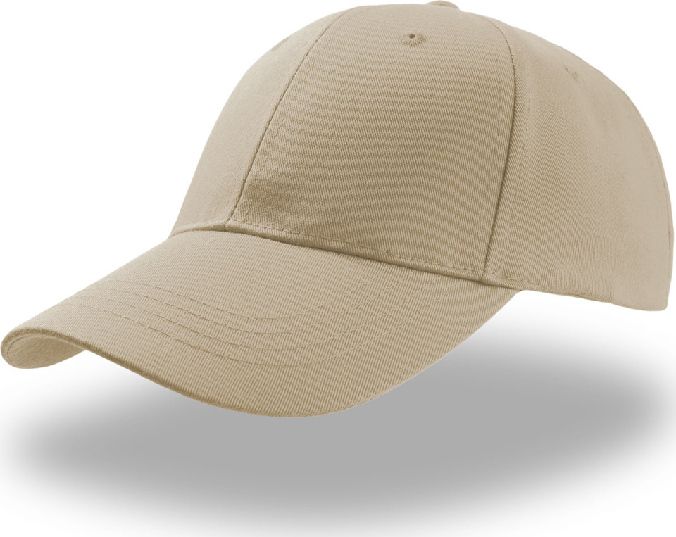 6 Panel Baseball Cap Zoom (khaki) for embroidery - Atlantis - Caps ... ca512a09642