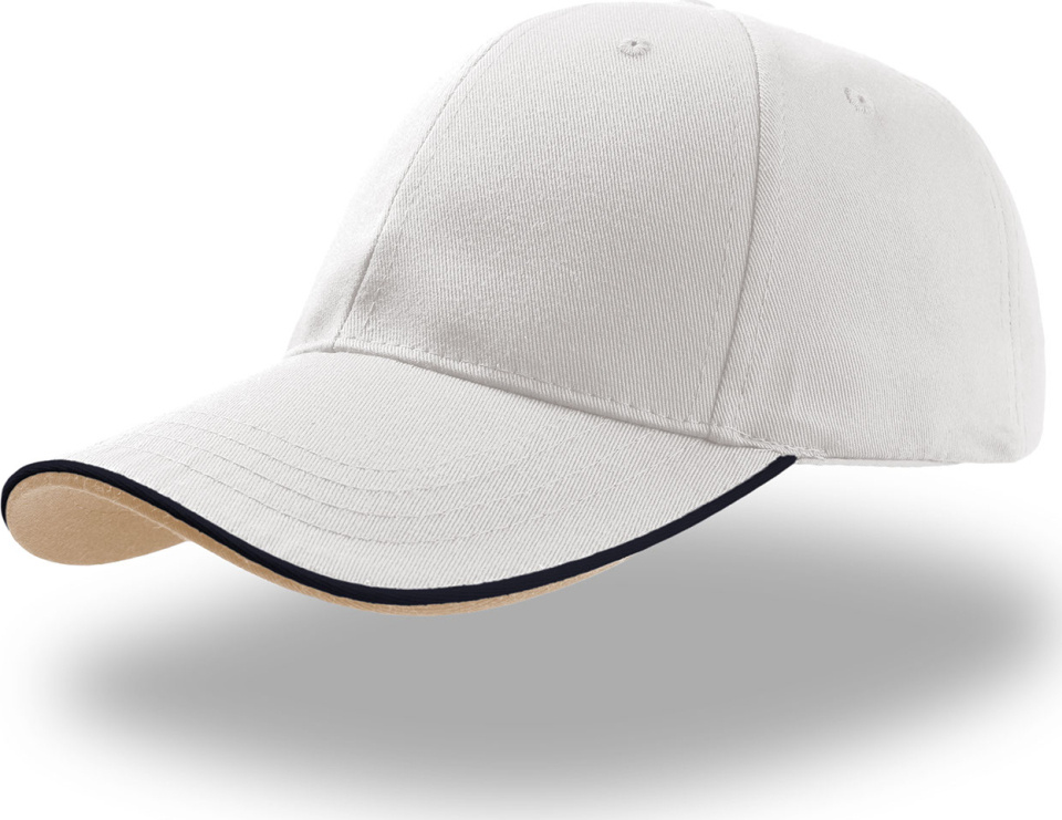 6 Panel Baseball Cap Zoom Piping Sandwich (white navy) for ... d38cb6034ec