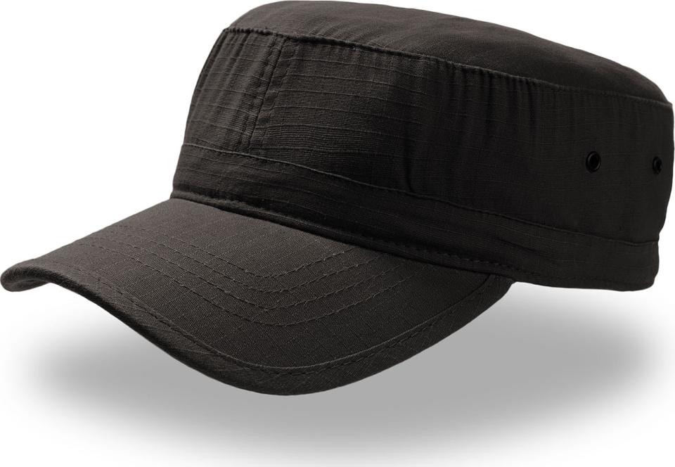 Military Ripstop Cap Army (black) for embroidery - Atlantis - Caps ... 94092e005e8
