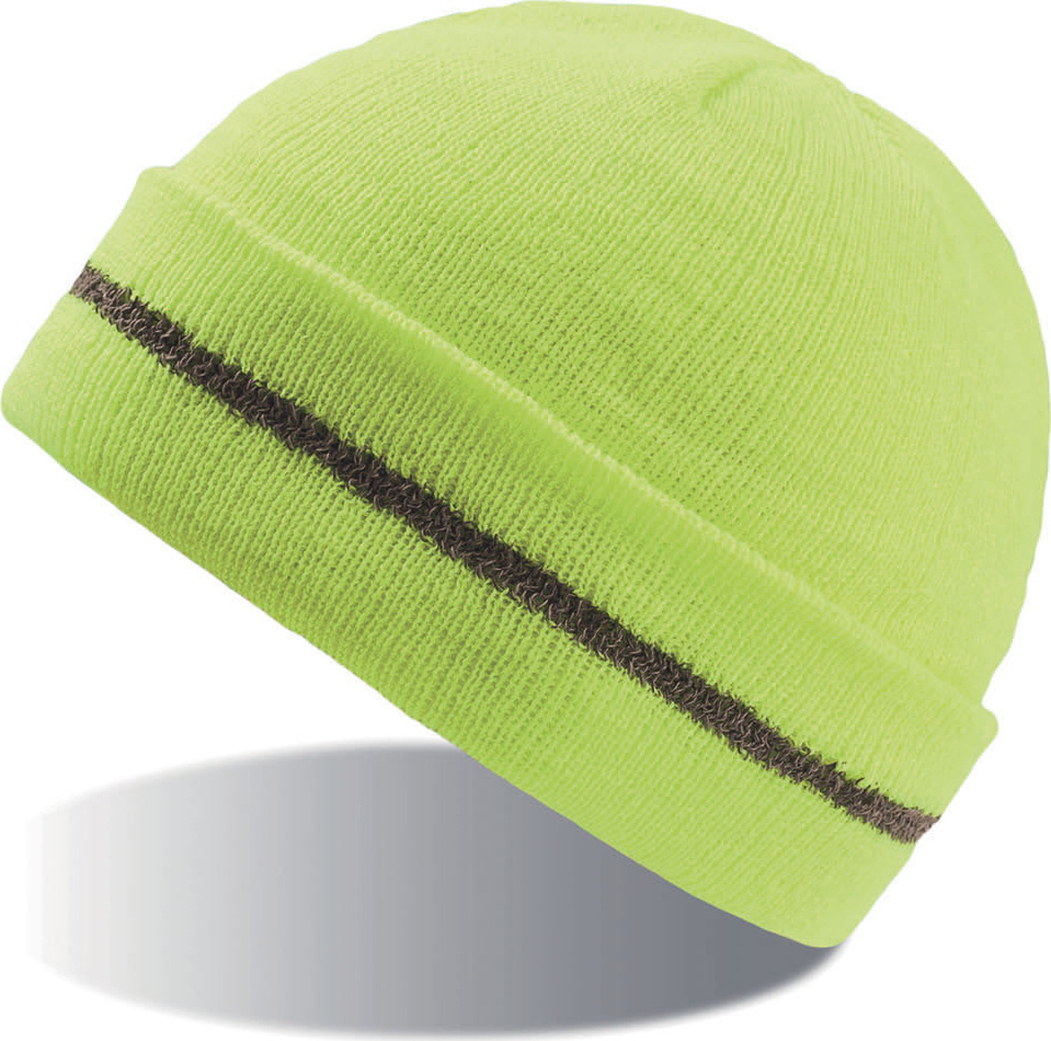 2698763ebdc Safety Beanie with Cuff Workout (yellow) for embroidery - Atlantis ...