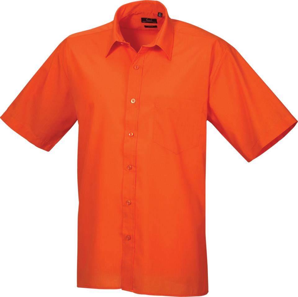 low priced 02c53 8e06f Popeline Hemd kurzarm orange