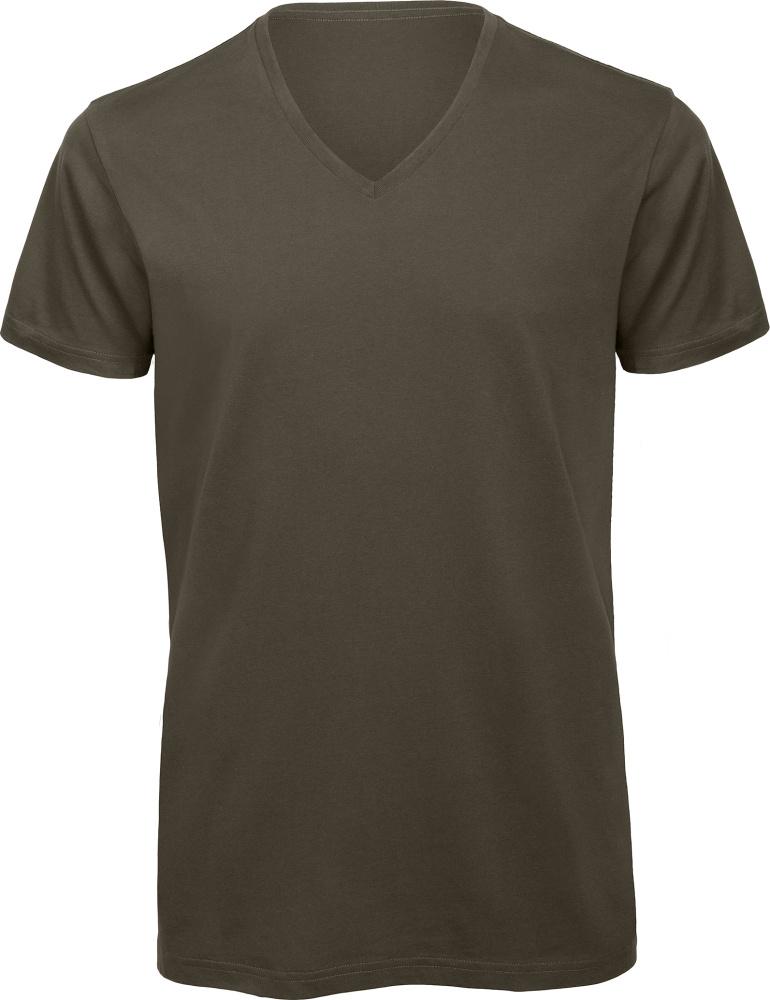 best website c4ce4 acdce Herren V-Neck T-Shirt khaki