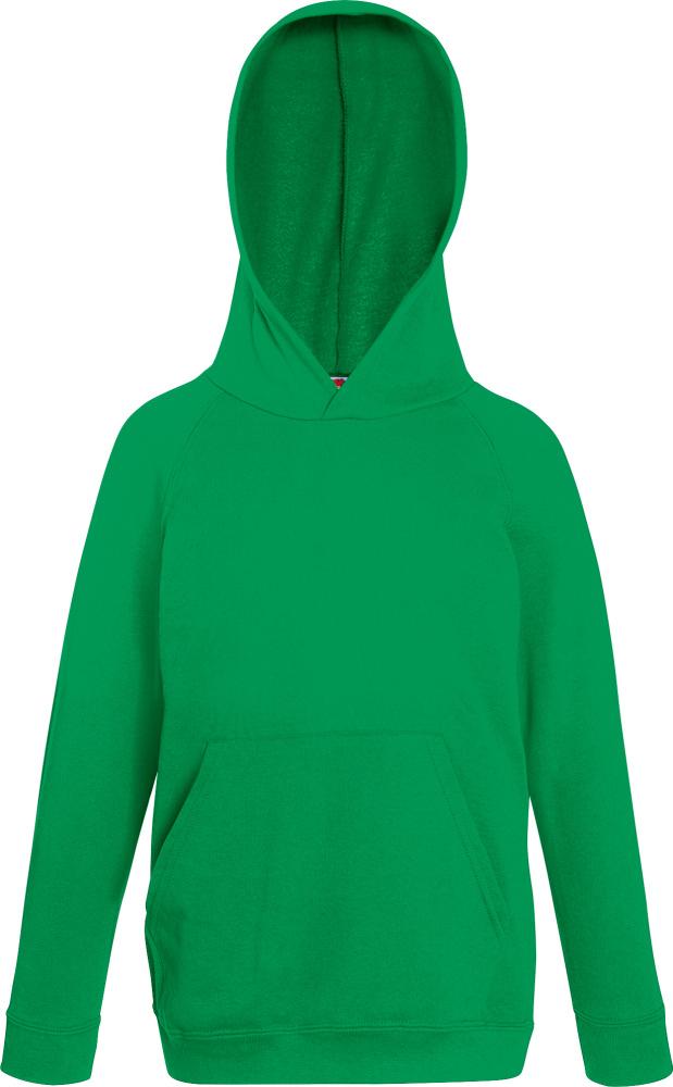 Fruit of The Loom Kids Lightweight Hooded Sweatshirt Casual Unbrushed Fleece TOP
