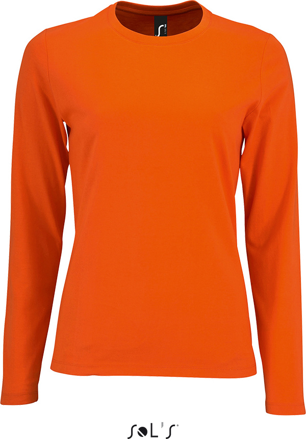 buy popular 5f466 2714f Damen T-Shirt langarm Imperial orange