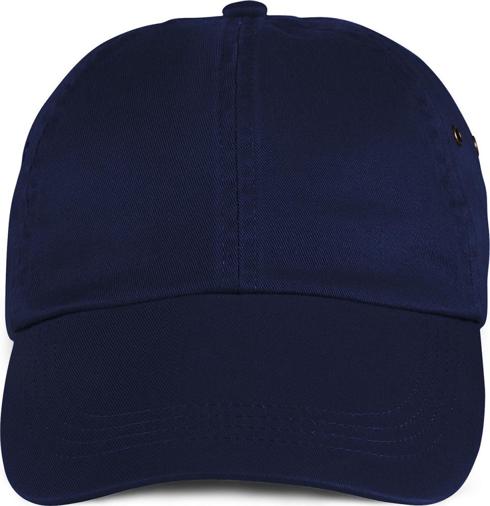 Solid Low-Profile Twill Cap (Navy) for embroidery - Anvil - Caps ... 5e0b959699e