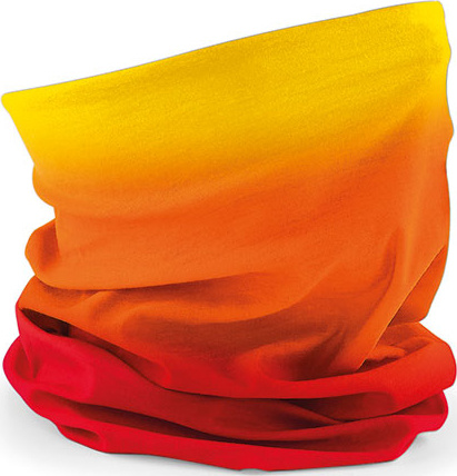 Beechfield Morf Ombre sunset reds Face Protector//multi Wear Garment