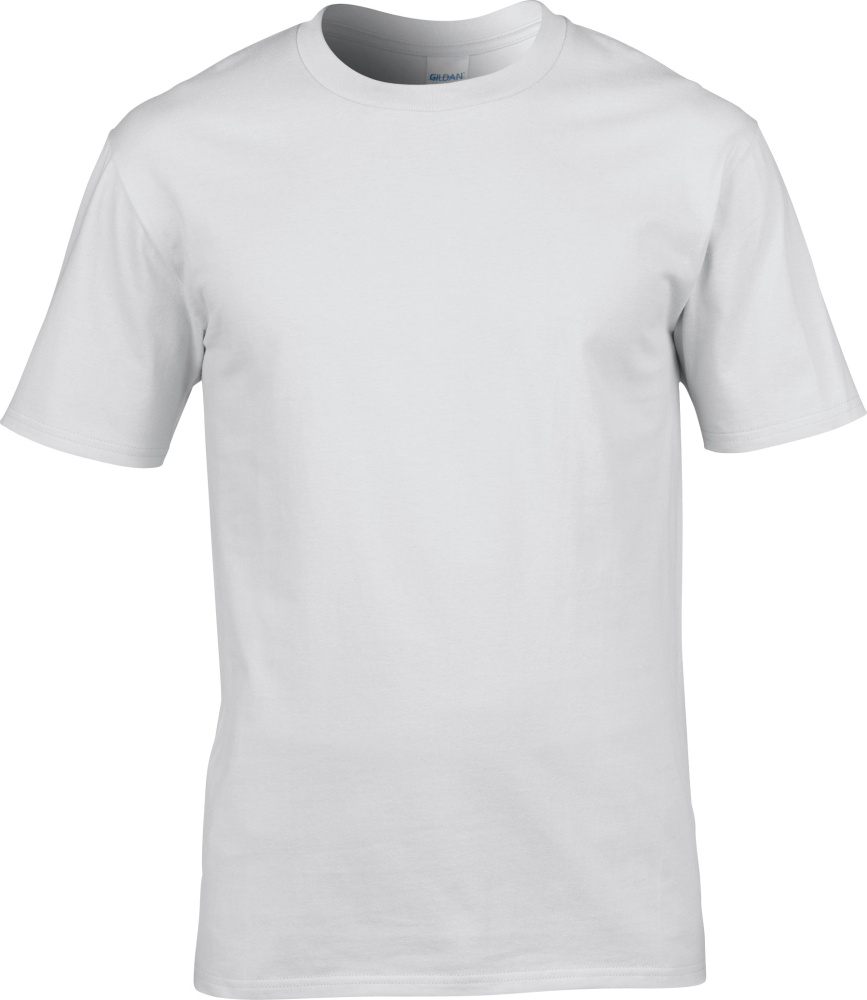 4014edb5249dec Premium Cotton T-Shirt (White) for embroidery and printing - Gildan ...