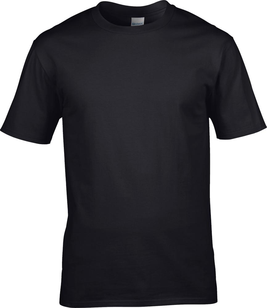 Premium Cotton T-Shirt (Black) for embroidery and printing - Gildan ... 625335b22f