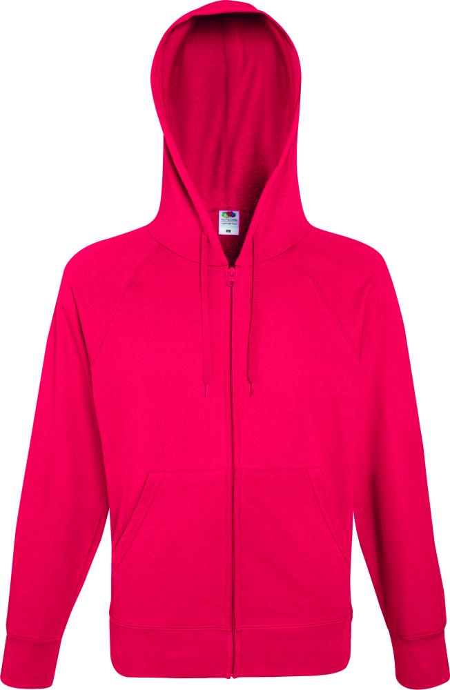 Lightweight Hooded Sweat Jacket Red