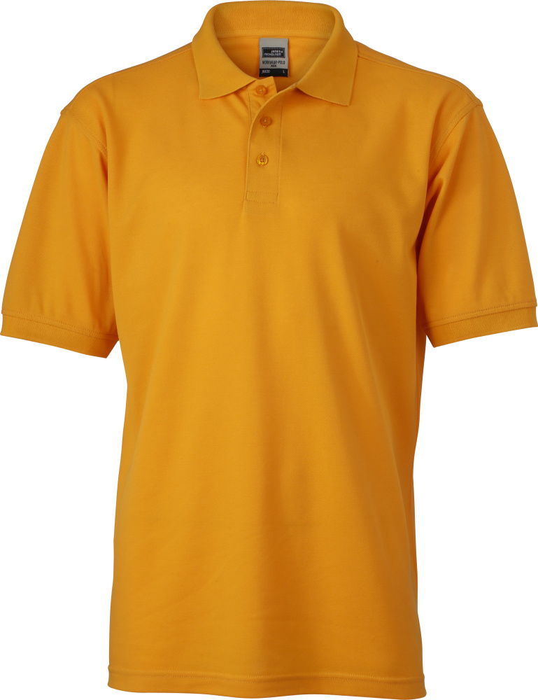 Men S Workwear Polo Gold Yellow For Embroidery And Printing