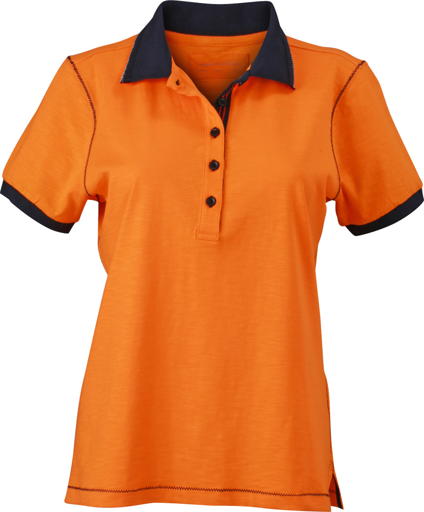 c3123978 Ladies´ Urban Polo (Orange/Navy) for embroidery and printing - James ...
