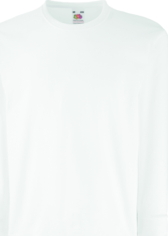 3916422f Valueweight Long Sleeve T (White) for embroidery and printing ...