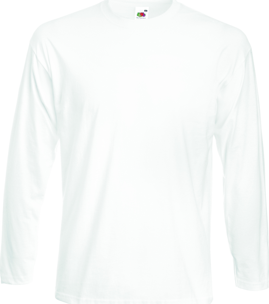 f83ad57a Super Premium Longsleeve (White) for embroidery and printing - Fruit ...