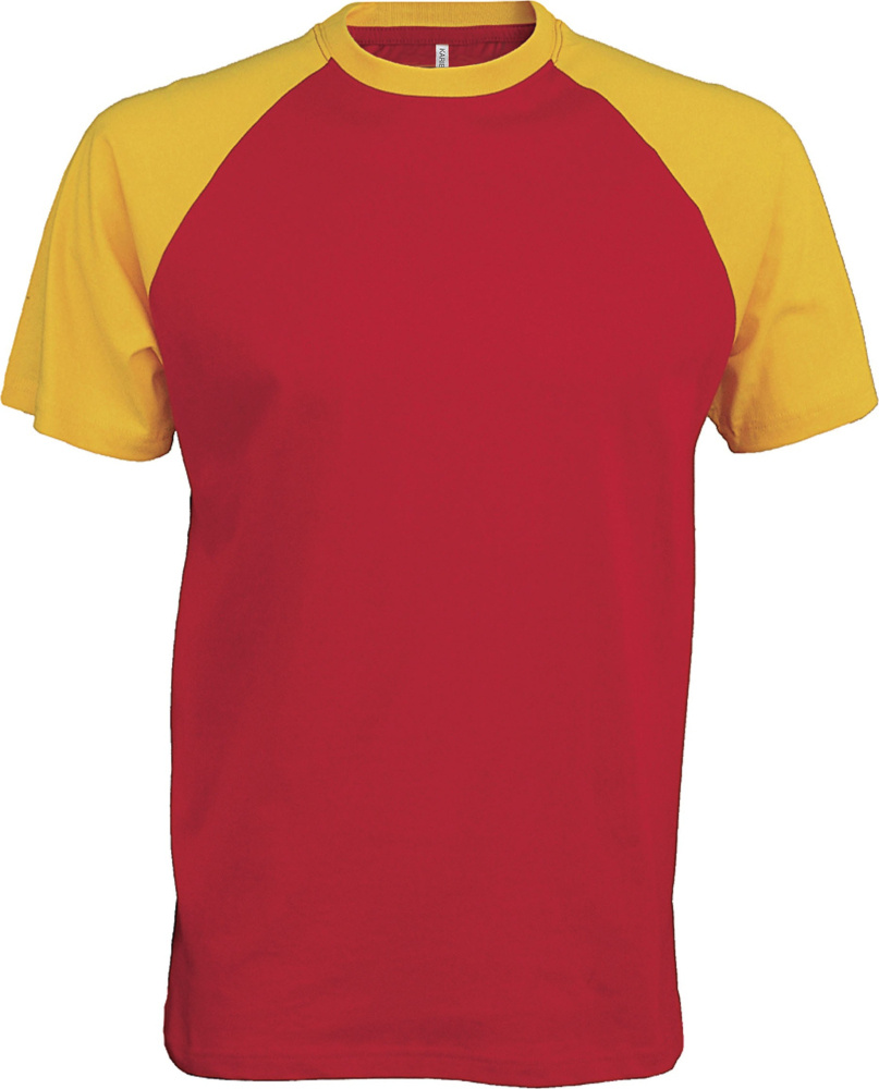 a05ab841 Contrast Baseball T-Shirt (Red/Yellow) for embroidery and printing ...