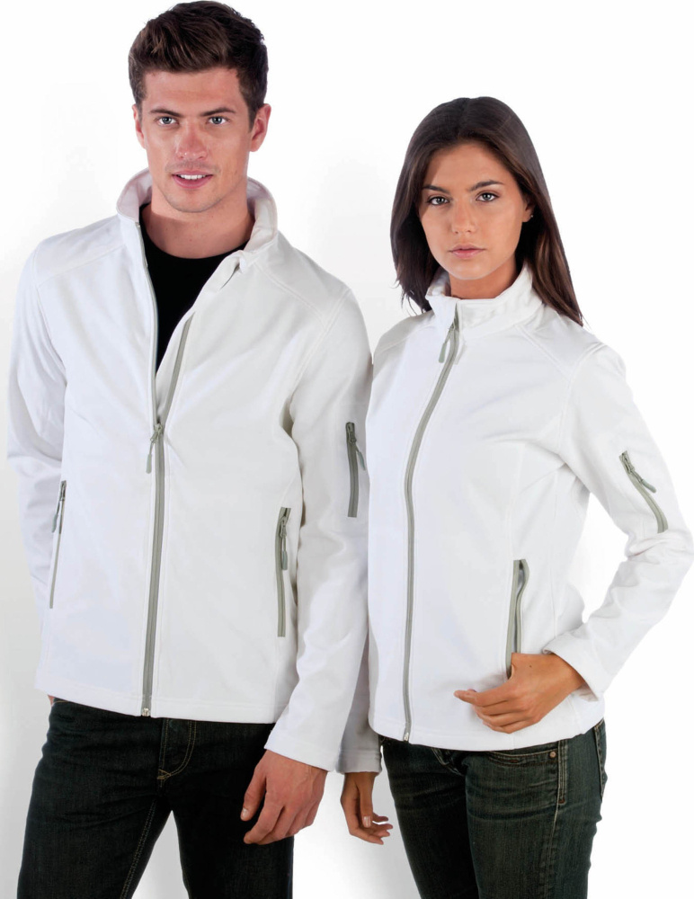 a8e6f0b357 Mens Softshell Jacket (White) for embroidery and printing - Kariban -  Jackets & Vests - StickX Textilveredelung