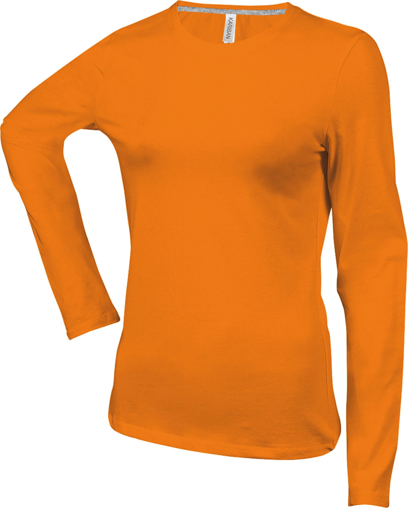 quality design adb7f 3670a Damen Langarm Rundhals T-Shirt Orange