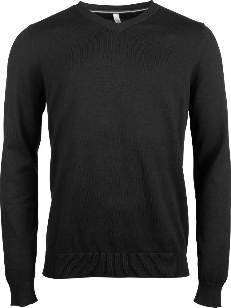 großer Rabatt am besten bewerteten neuesten neue Version Herren Pullover mit V-Ausschnitt Black