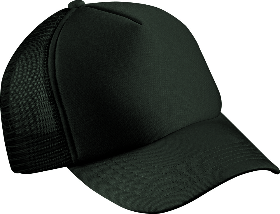41b6cd8517 5-Panel Polyester Mesh Cap (Black) for embroidery - Myrtle Beach ...