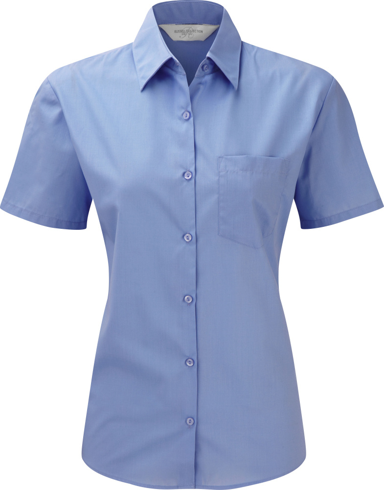 b0c08c5d5d Outlet Russell – Ladies´ Short Sleeve Poly-Cotton Easy Care Poplin Shirt ( Women) 🔗