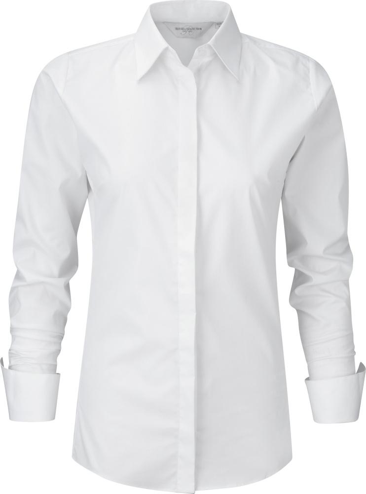 Ultimate Stretch Bluse Langarm (White) zum besticken und bedrucken ... 48284a0cd4
