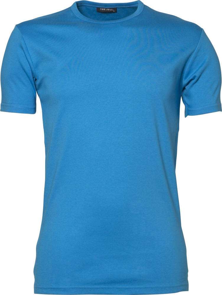 Mens Interlock Bodyfit T-Shirt (Azure) for embroidery and printing ... a56b6e6edd