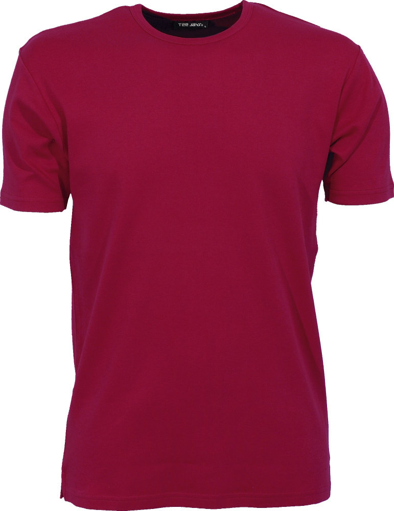 Mens Interlock Bodyfit T-Shirt (Deep Red) for embroidery and ... 1c2b91a6b8