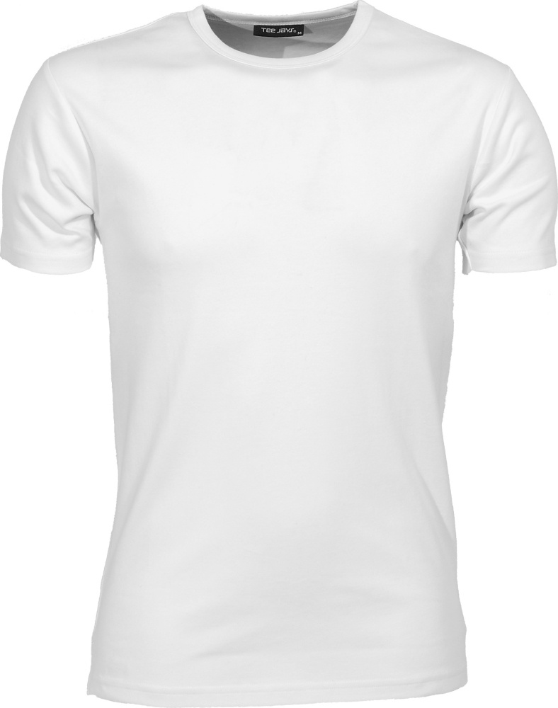 Mens Interlock Bodyfit T-Shirt (White) for embroidery and printing ... fe64c8b30f